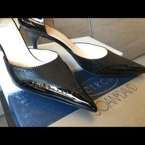 Circa Joan & David Black Leather/Patent Leather
